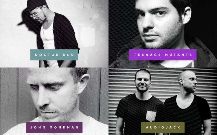 Doctor Dru, Teenage Mutants, Audiojack e John Monkman são representados pela Entourage Deep House