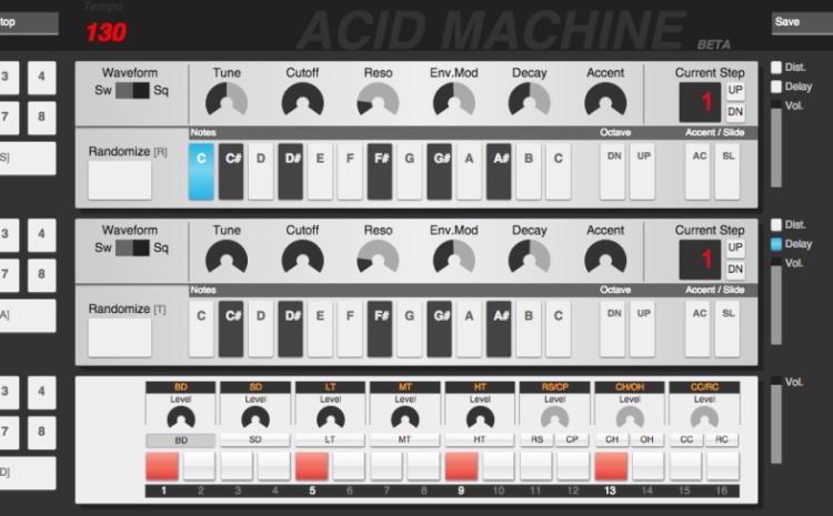 Confira a Acid Machine, o primeiro emulador web da TB 303 track