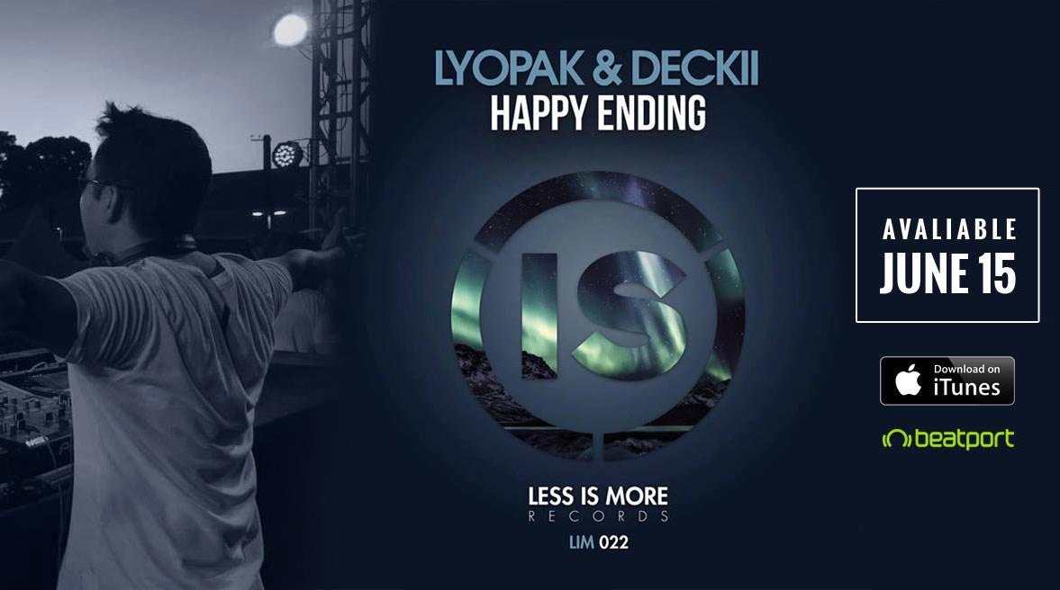 Lyopak, aluno da DJBan, lança track pelo selo Less is More beatport, DECKII, diego miranda, DJBan - EMC, happy ending, itunes, less is more, LYOPAK, single, track