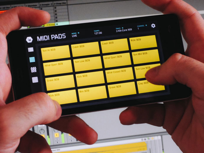 LK Ableton Live Controller para iOS e Android Ableton Live, Android, aplicativo, app, controlador, do androids dance, iOS, lk