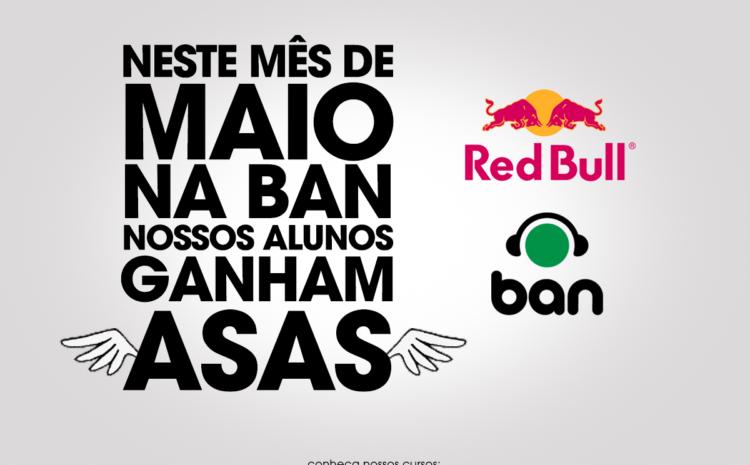 Red Bull deu asas para os alunos da DJBan em maio red bull