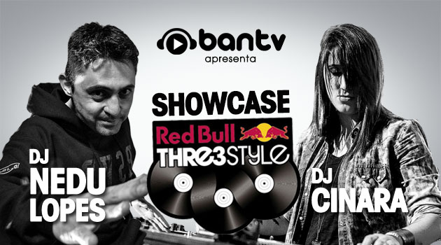 Nedu Lopes apresenta showcase do Red Bull Thre3Style na Ban TV com a DJ Cinara, dia 09.04 nedu lopes