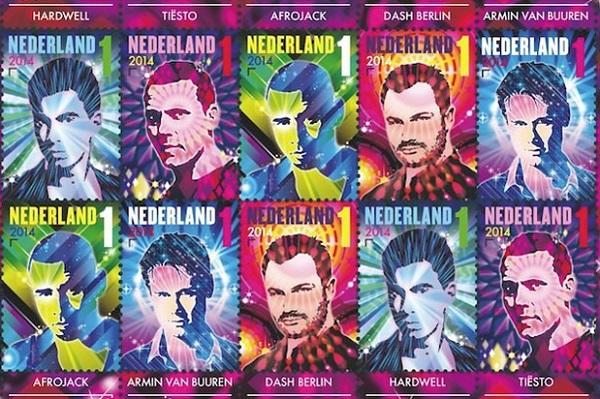 Holanda lança novos selos com os DJs mais famosos do país afrojack, armin van buuren, Dash Berlin, DJs, Hardwell, Holanda, Martin Garrix, tiesto