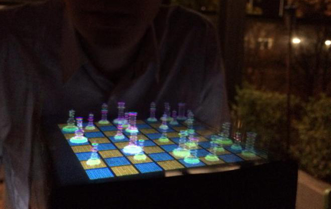 Voxiebox transforma suas imagens em projeções holográficas 3D projeções