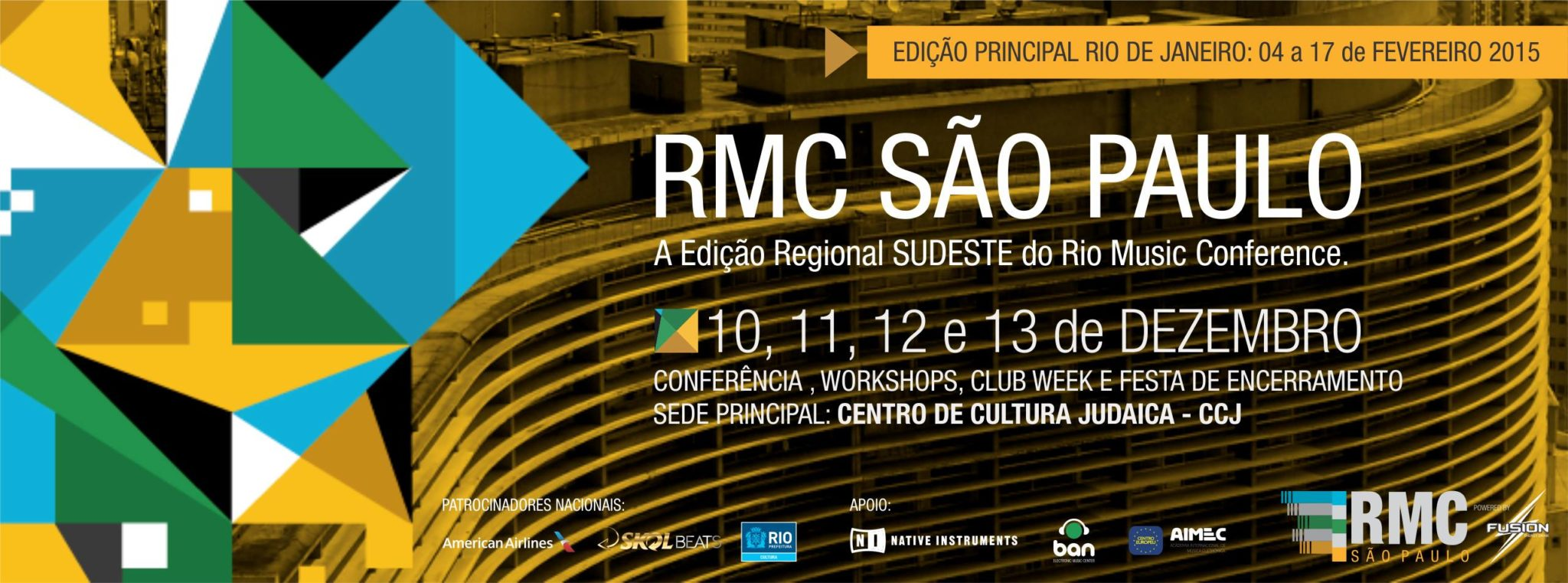 Will DB apresenta 2 workshops da Native Instruments no RMC – São Paulo, dias 12 e 13.12 DJBan - EMC, Maschine studio, native instruments, quanta music, rio music conference, RMC - São Paulo, Traktor, will db, workshop