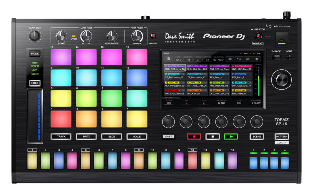 TORAIZ SP-16: Sampler da Pioneer que sincroniza com CDJs! samples