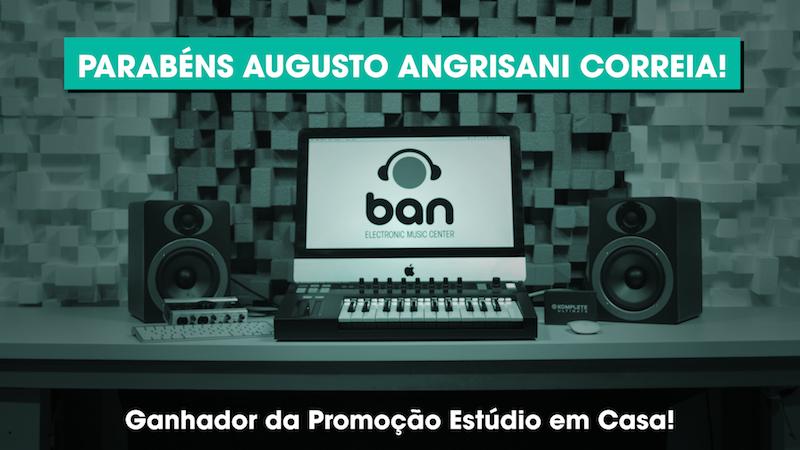 Augusto Blandy é o ganhador do Estúdio Completo estúdio, ganhador, native instruments, promoção