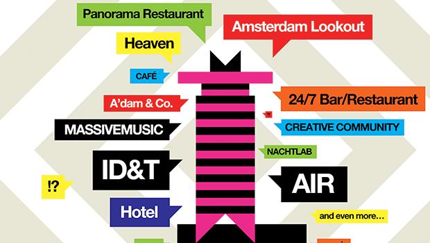 A'DAM: A Música Eletrônica venceu em Amsterdam A'DAM, Amsterdam, Amsterdam Dance And Music, ID&T, música eletrônica, Shell Tower