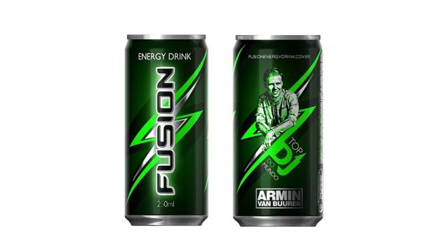Armin van Buuren lança edição especial do energético Fusion horas antes de seu show em São Paulo fusion energy drink