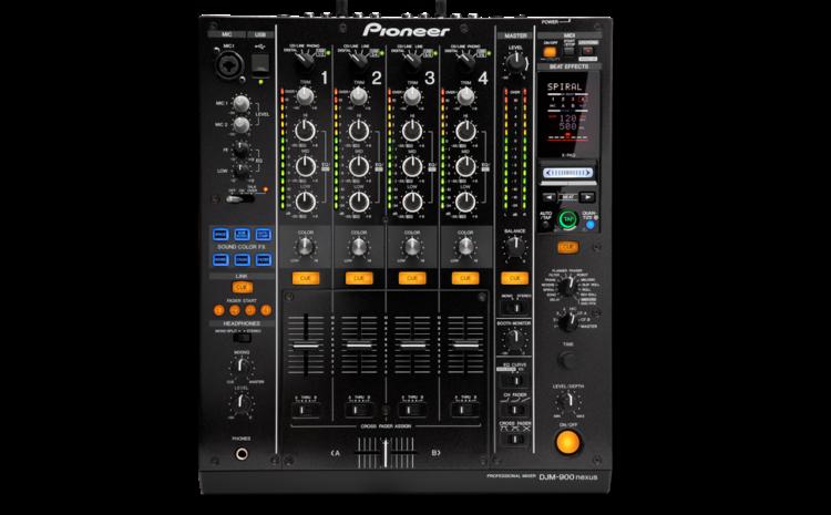 Detalhes do DJM-900 Nexus, da Pioneer mixer