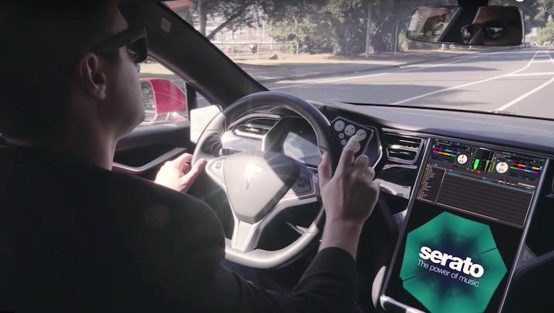 TESLA vs SERATO, que tal fazer um set no carro? carro, DJ, DJBan - EMC, drive, Magento, Serato, serato dj pro, Tesla