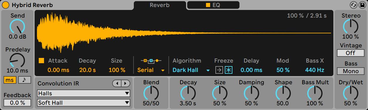 ableton live 11 hybrid reverb