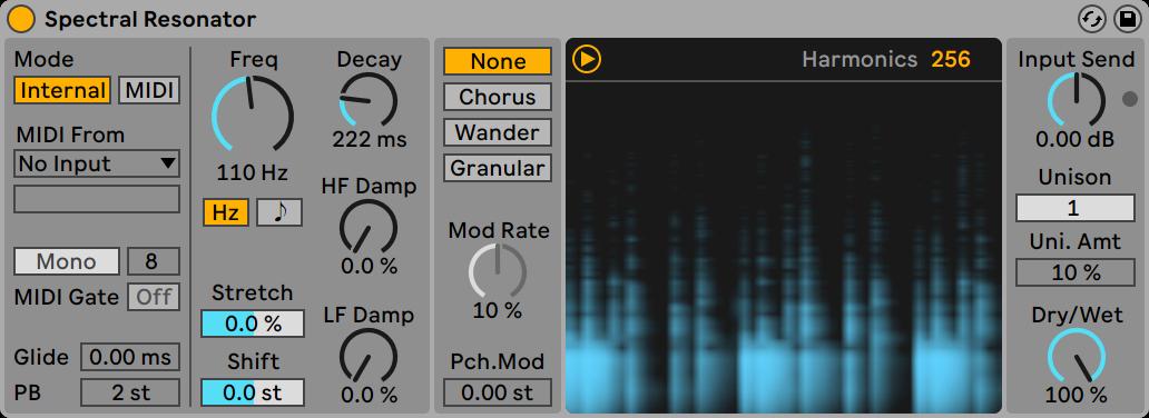spectral-resonator dj ban ableton live 11